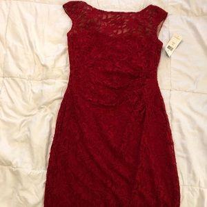 Red lace Ralph Lauren dress